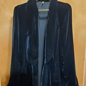 FREE PEOPLE  velvet jacket large